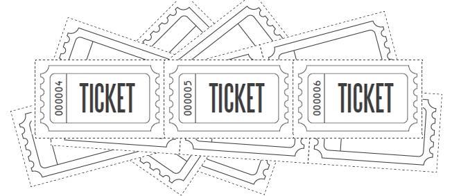 Customize Printable Raffle Ticket Blanks