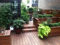 custom planters and roof top garden designer - nyc