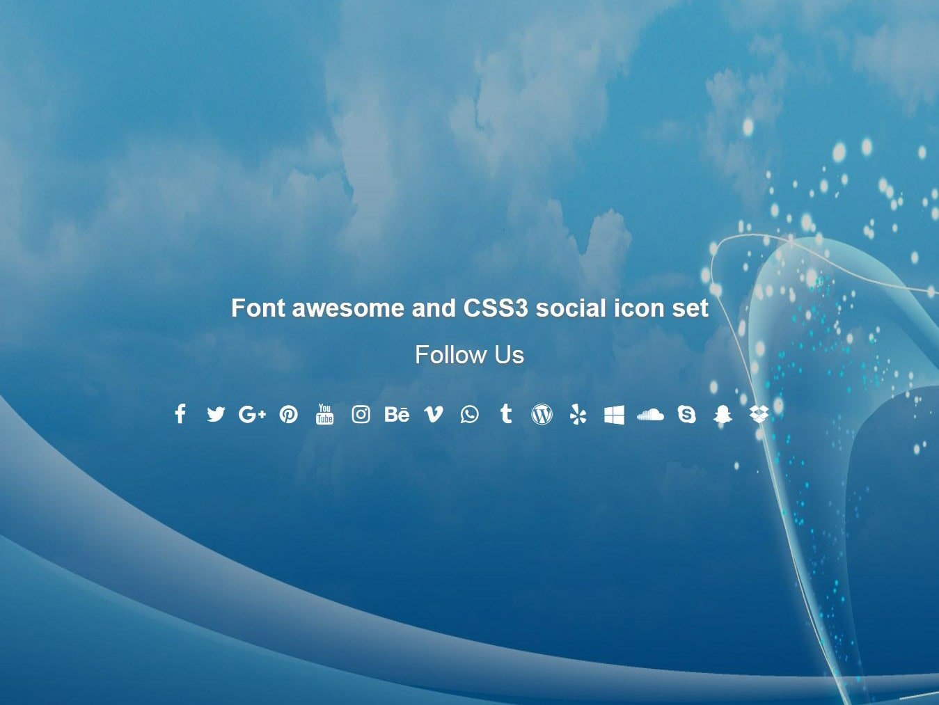 Font awesome and css3 social icon set