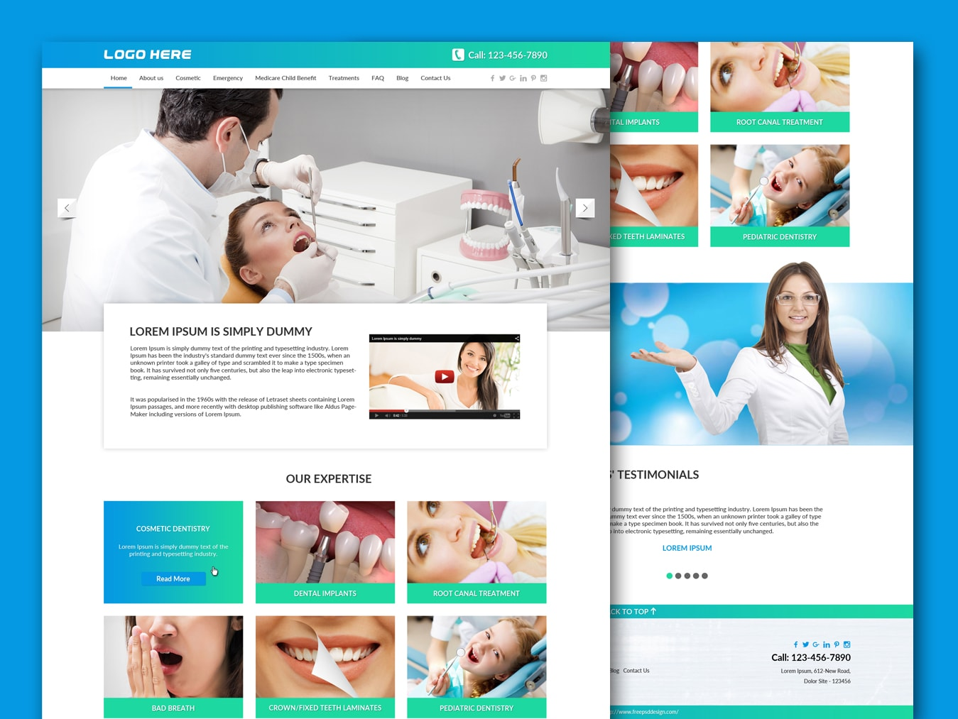 Dentist Website Template