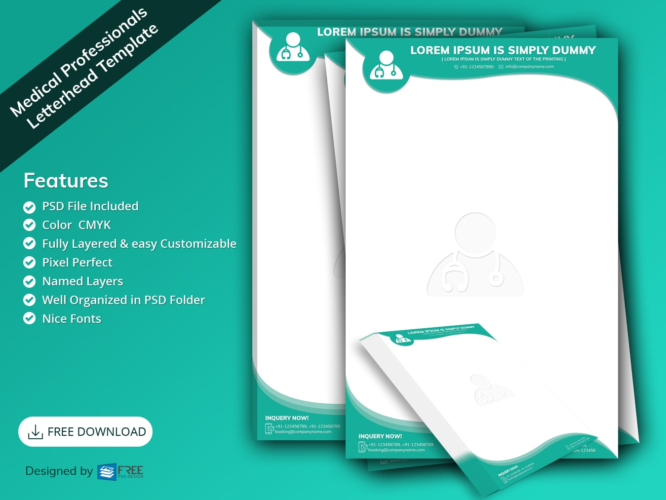 Medical Professionals Letterhead Template