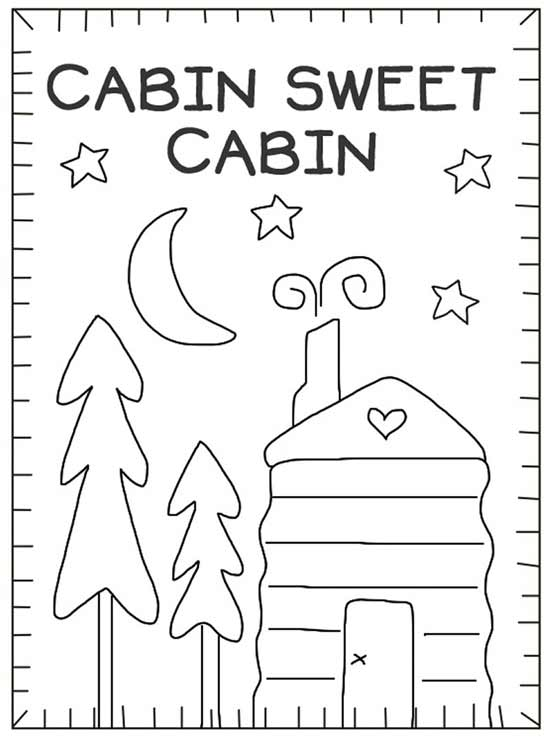 Cabin Sweet Cabin Stitchery Pattern