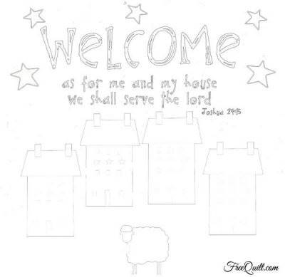 Primitive Welcome Pattern - Quilted Wall Hanging