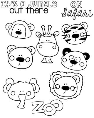 Applique Patterns for Elephants, Bears, Faces at the Zoo