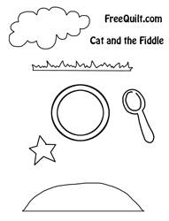 Hey Diddle Diddle Cat and the Fiddle Applique Pattern