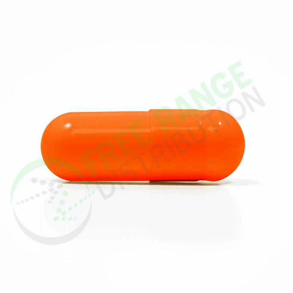 Orange Gelatin Capsules