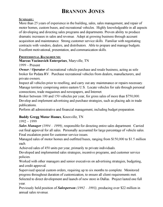 Good Sales Resume Examples Sludgeport648 Web Fc2 Com