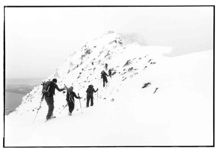 Topptur på Rombakstötta. Vi fick lämna skidorna. Photo