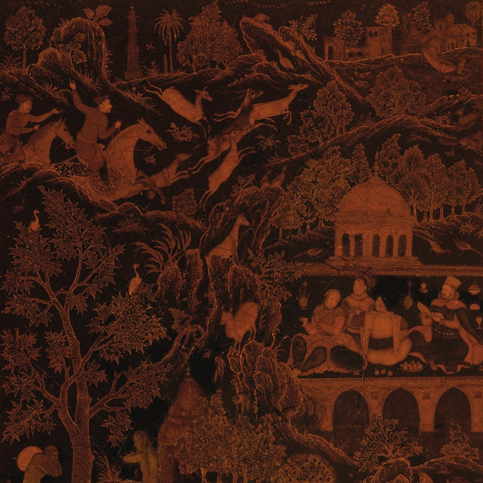 Bookcovers from a volume of the Gulshan Album (Rose Garden album)