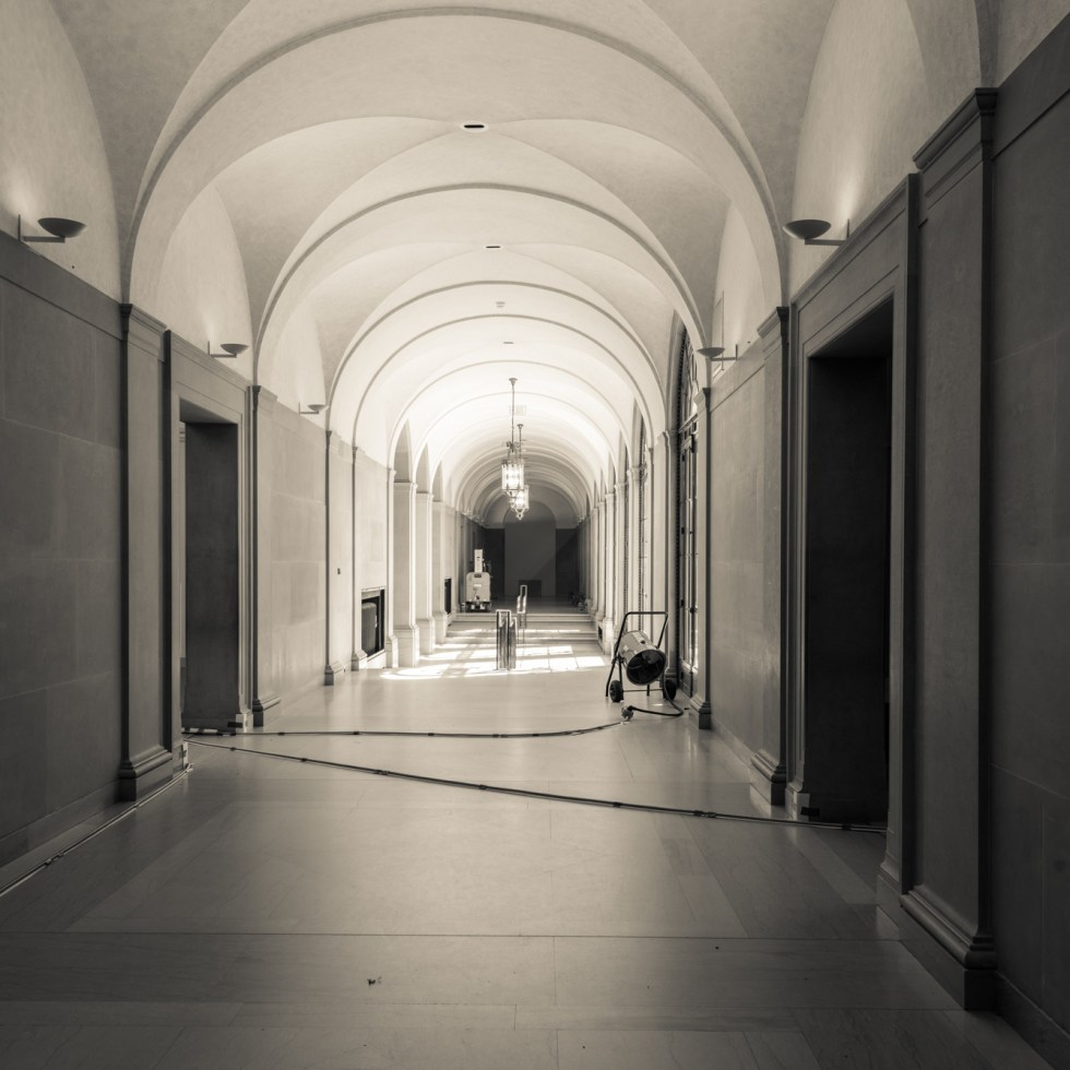 Freer Gallery of Art corridor under renovation 2017.