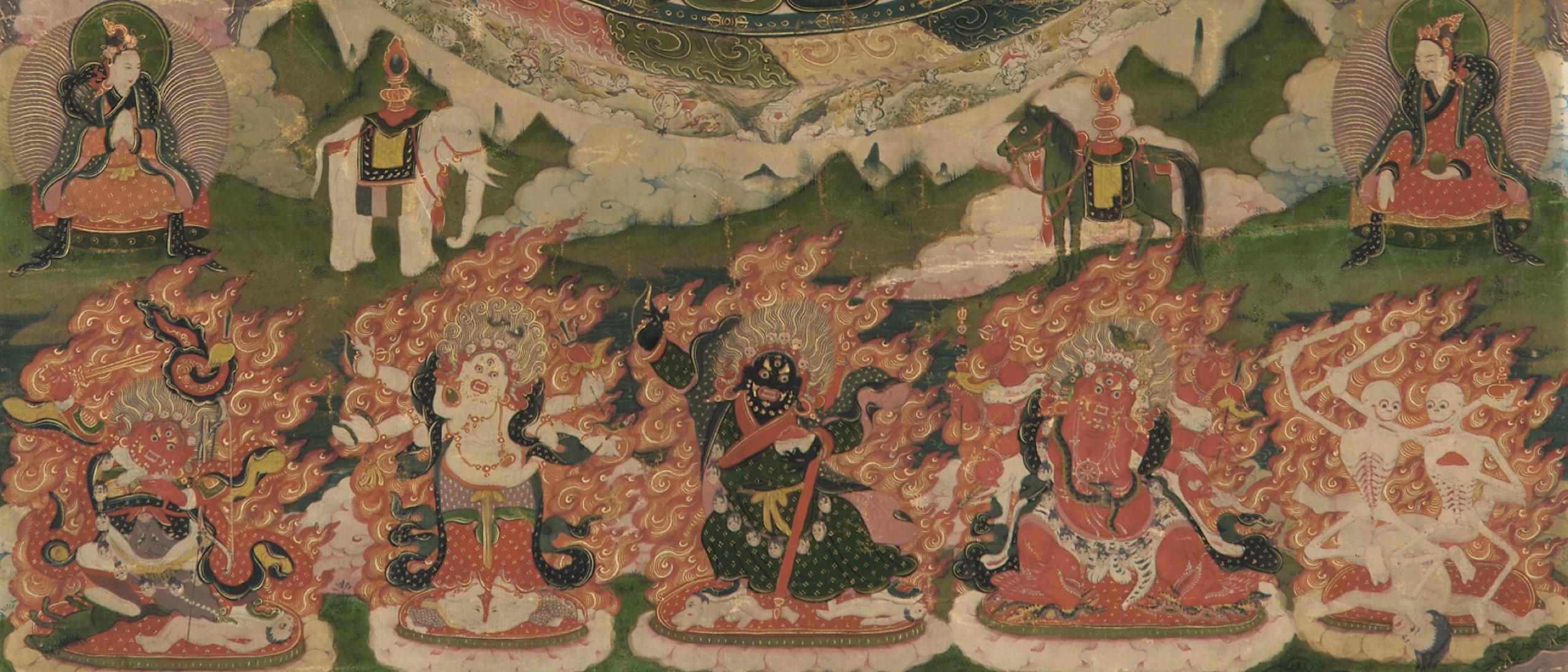 Detail, Lamaist mandala, F1905.66