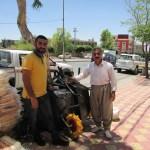 Amanj and Kak Aziz buying tools