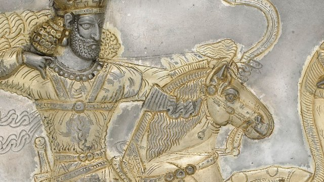 detail from the Sasanian plate