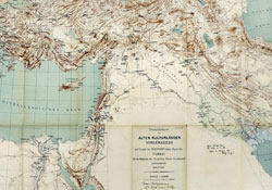 Map focused on Mediterranean Sea and Middle East