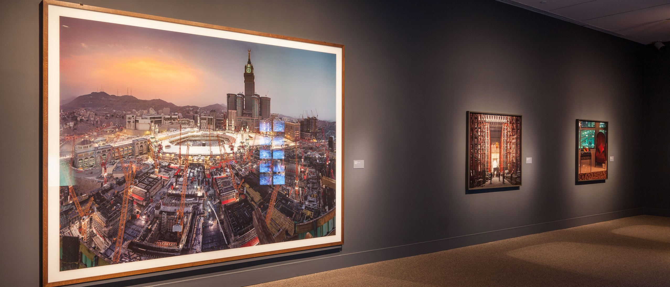 Symbolic Cities: The Work of Ahmed Mater installed in the Sackler Gallery