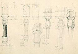 Illustrations of columns and capitals