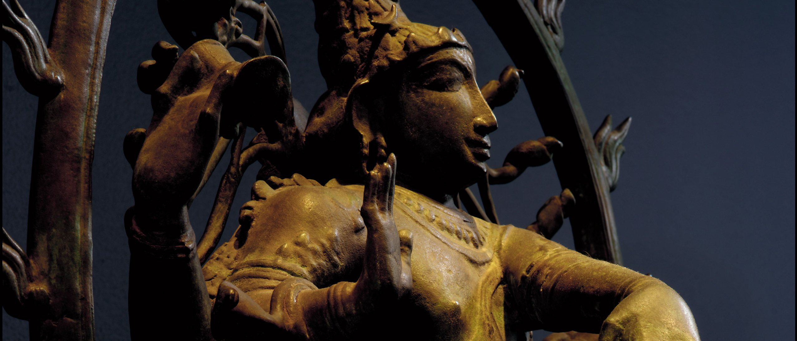 detail, Shiva Nataraja sculpture,