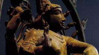 detail, Shiva Nataraja sculpture,