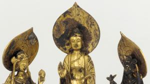 buddha in gold tile