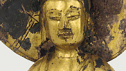 buddha in gold tile