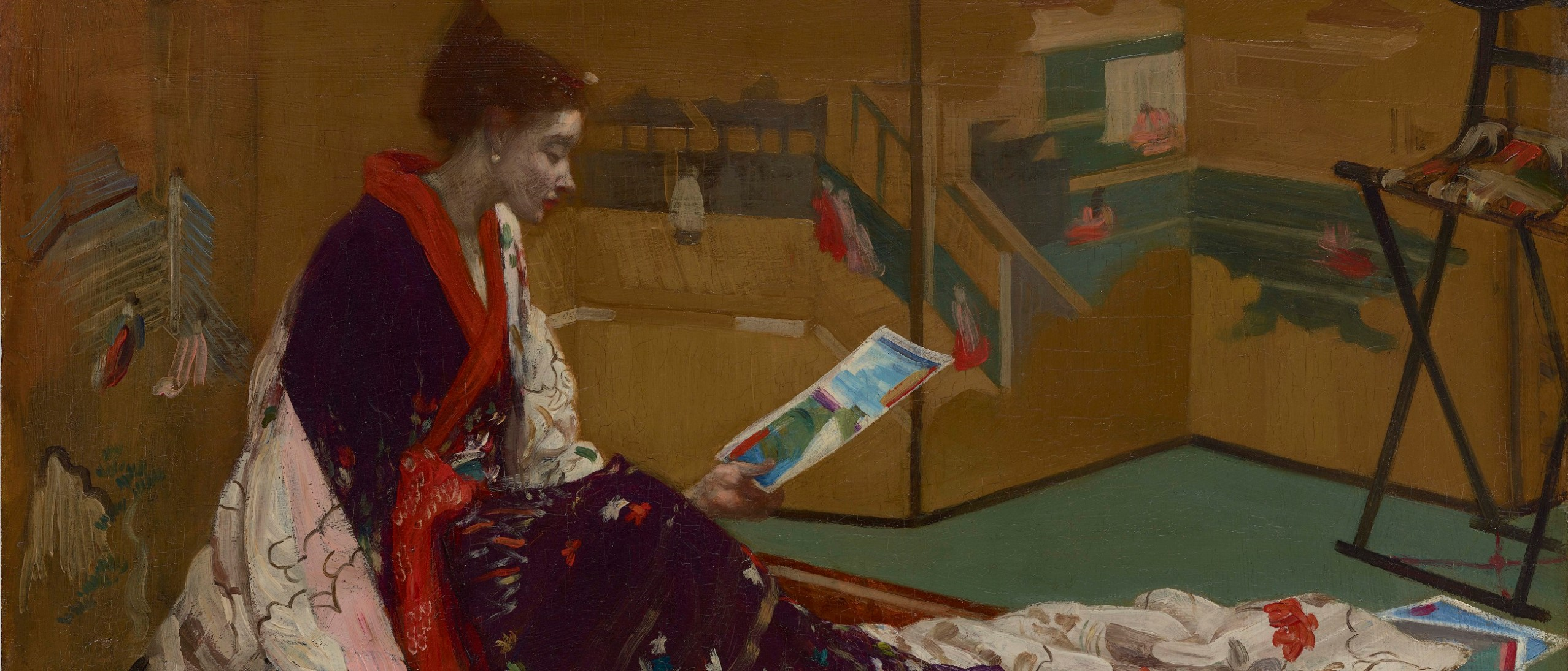Detail, Caprice in Purple and Gold: The Golden Screen, F1904.75a image