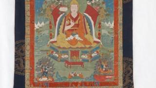 Hanging Scroll of Third or Sixth Panchen Lama, Lobsang Palden Yeshe