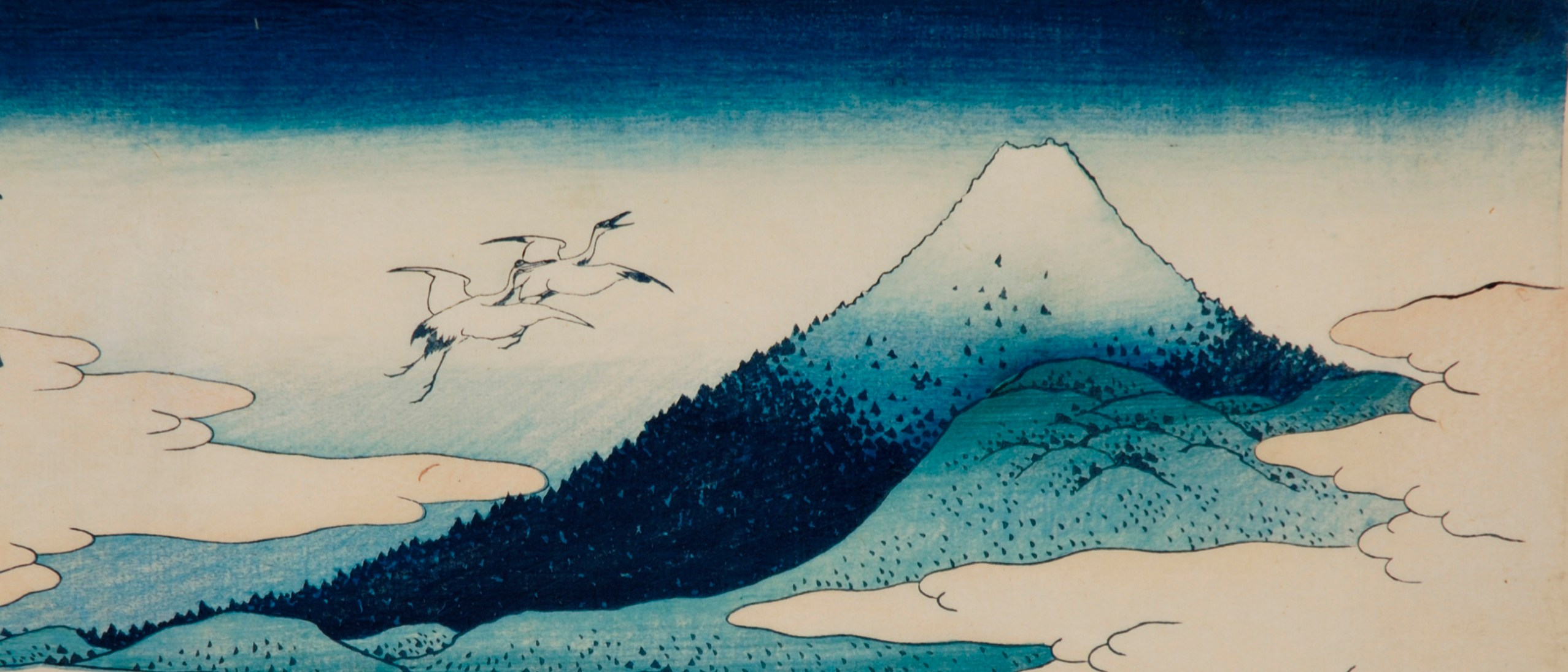 Detail image, Thirty-six Views of Mount Fuji: Umezawa Manor in Sagami Province. By Katsushika Hokusai (1760-1849), The Mann Collection, Highland Park, Illinois