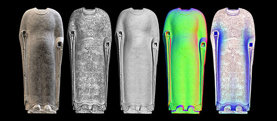 Five different imaging scans of the Cosmic Buddha