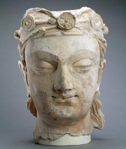 S1987.851 stone buddha head