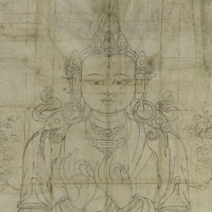 detail from a drawn bodhisattva
