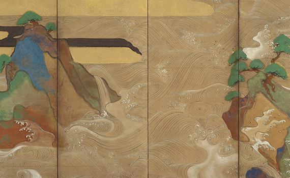 Waves at Matsushima, Tawaraya Sōtatsu (act. ca. 1600–40). Japan, early 1600s. Gift of Charles Lang Freer, F1906.231-232