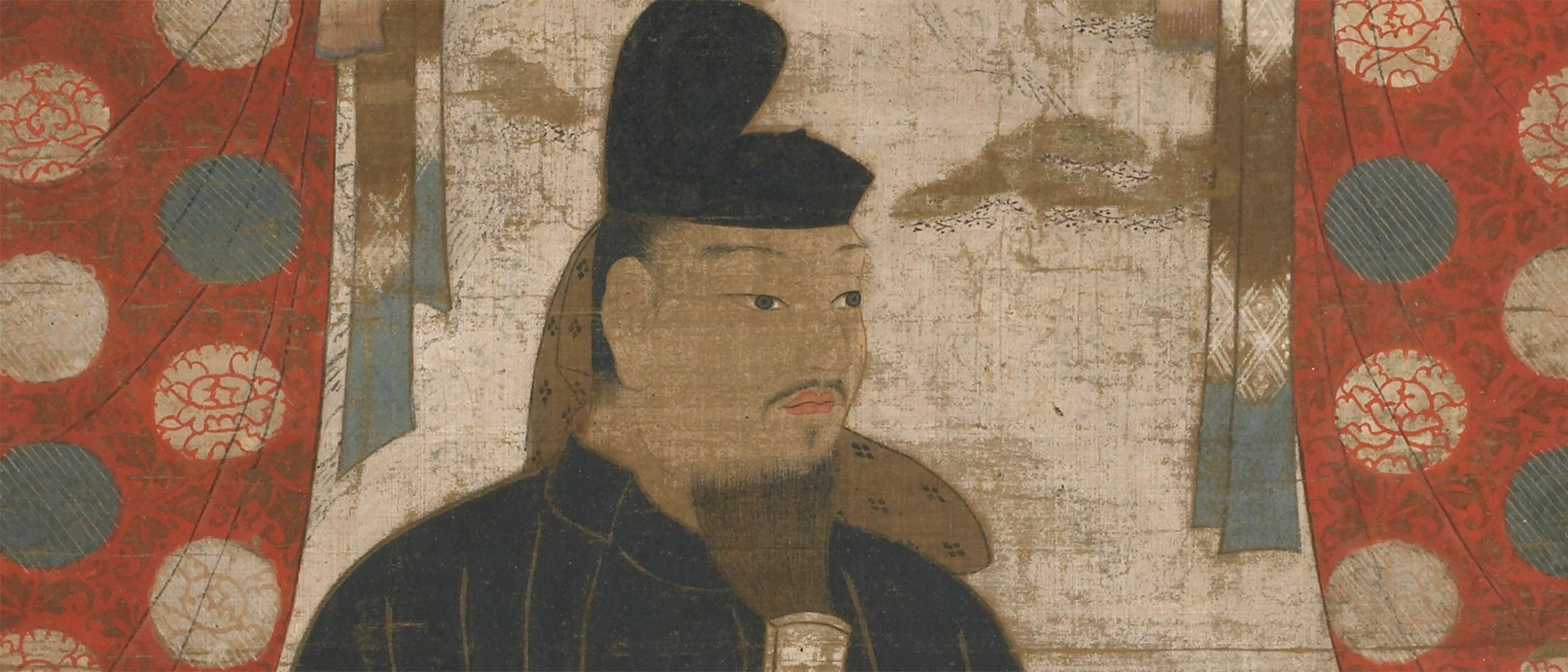 This portrait of the Japanese aristocrat Fujiwara no Kamatari (614- 669) and his two sons is a religious icon.