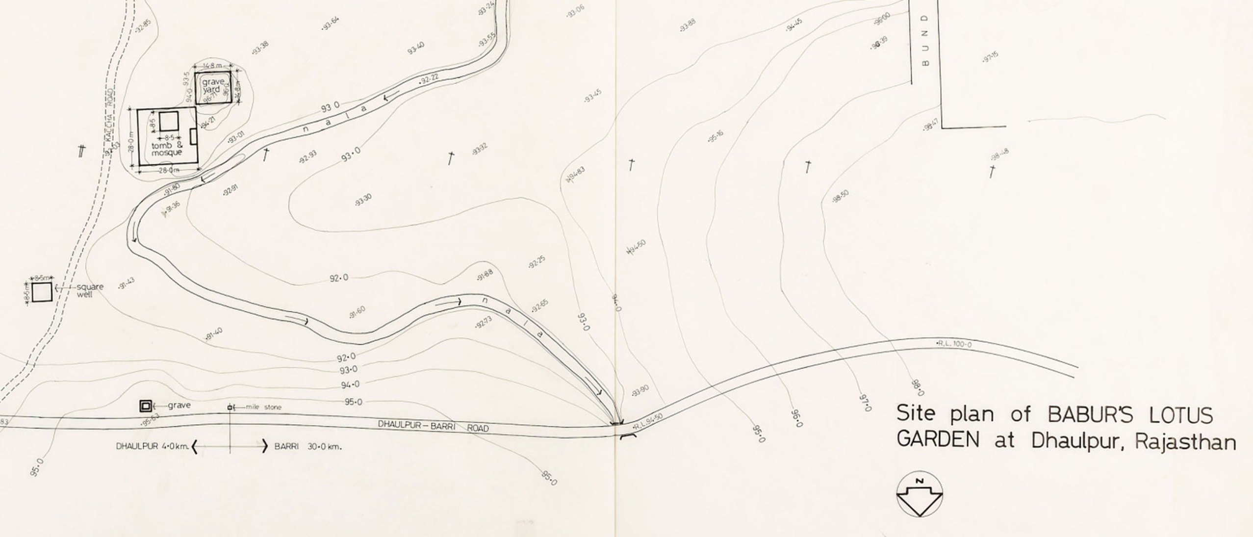 detail of an archival map