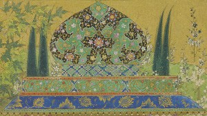 detail from a mughal painting
