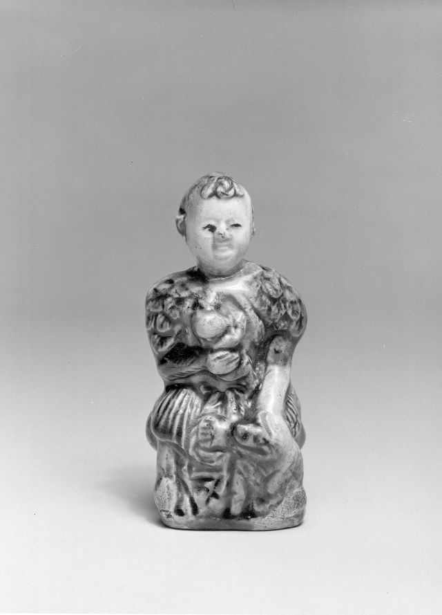 Photo, Glazed earthenware Shen Nong. Tang dynasty, 618–907., H: 9.6 cm. (3 3/4 in.) Singer catalogue number: [1297].