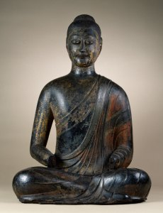 dark-colored buddha from the Walters Art museum