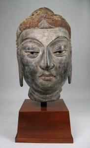 Bodhisattva head, hollow-core lacquer, private collection