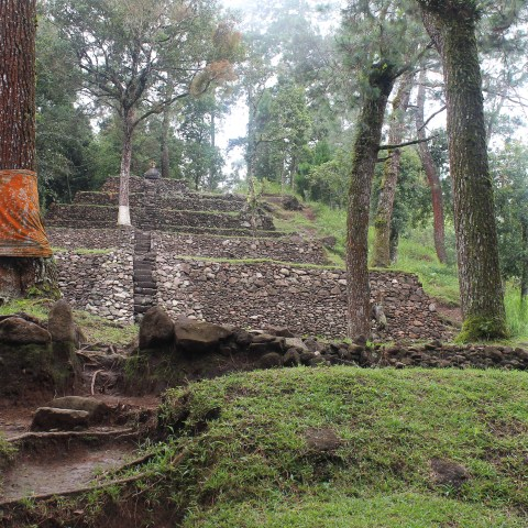 Candi Cetho and Candi Kethek, esoteric temples on Lawu Mountain, near Solo, Central Java