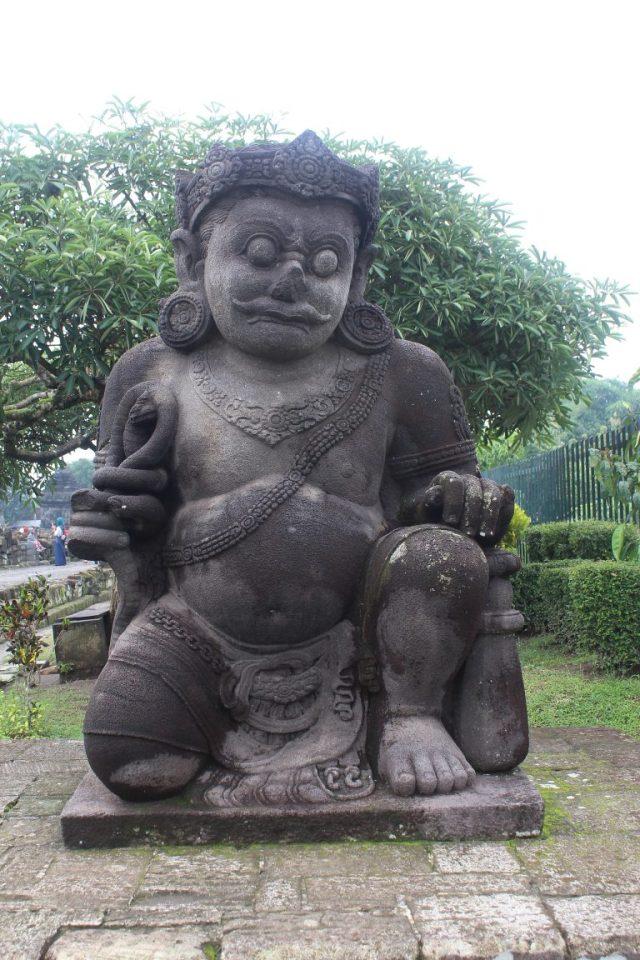 Temple guardian (dvarapala), Candi Plaosan (ninth century), Prambanan, Central Java