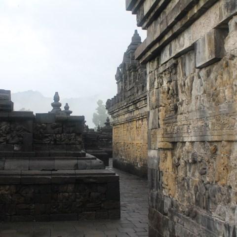 Misty sunrise at Candi Borobudur, Central Java