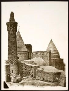Mausoleum Complex of Sheikh Bayezid Bastami: Seljuk Minaret on the Foreground