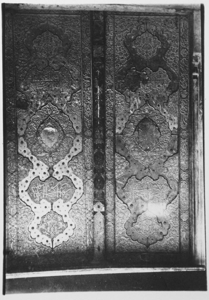 Madrasa-i Madar-i Shah: View of Door with Geometrical Ornamentation and Arabic Inscriptions