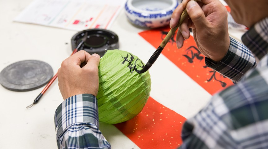 lantern painting for Lunar New Year