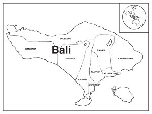 Map of Bali.