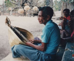 Man playing sasandu
