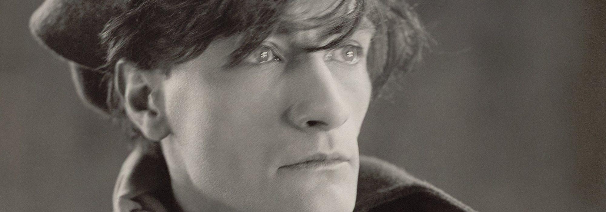 Black and white photographic portrait of Antonin Artaud