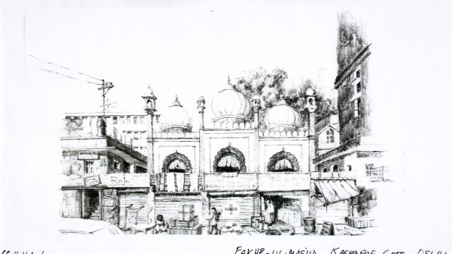 Drawing of a palace