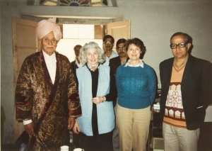 Hari Singh Rajoria, the author, Eileen Blumenthal, and Niranjan Rajoria.