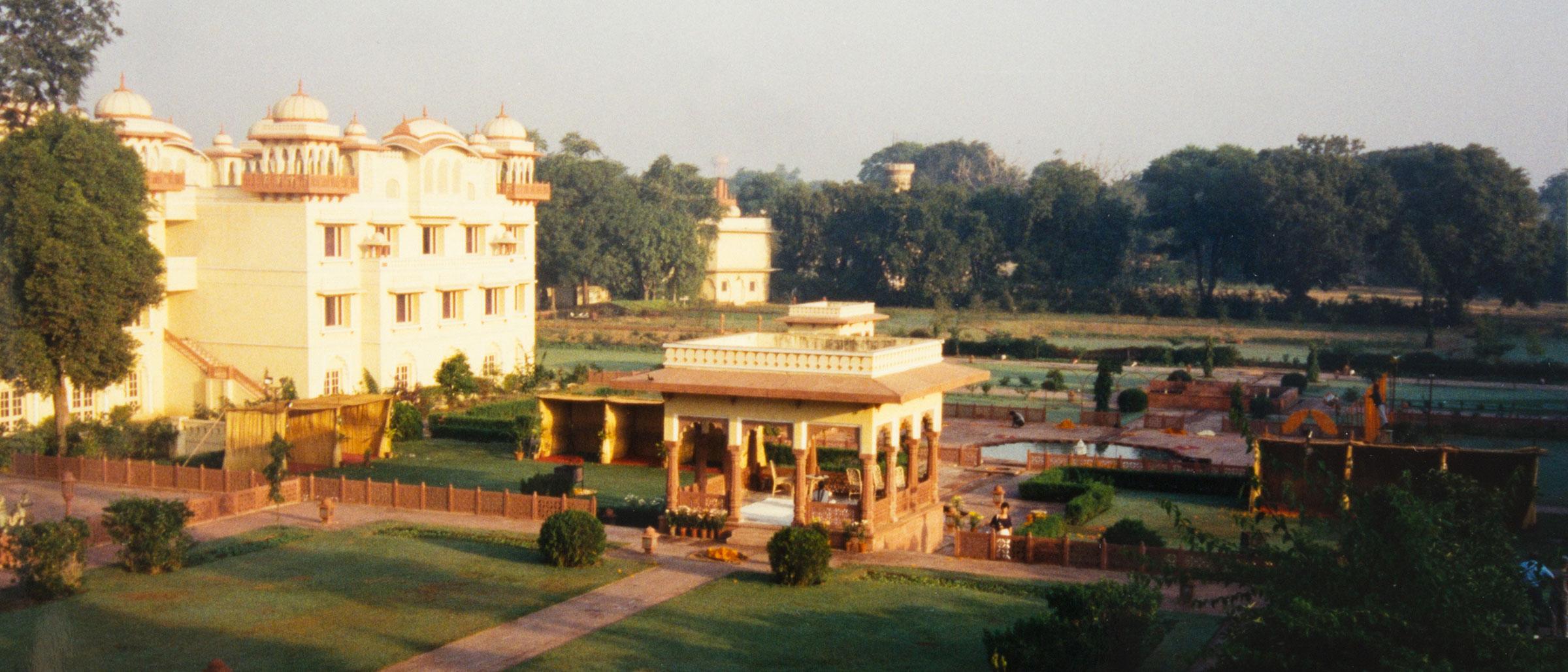 The Jai Mahal Garden in Jaipur