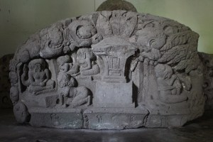 Relief showing ascetics in a forest hermitage
